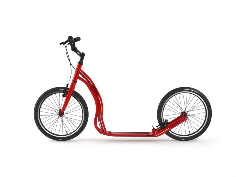 Yedoo Dragstr urban kick scooter with big wheels and v brakes