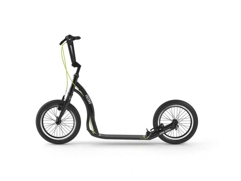 """Yedoo Friday urban kick scooter in black wiht 16""""wheels and v brakes"""