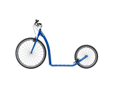 Adult hybrid Footbike Kostka tour max with v brakes and big pneumatic tyres in blue colour