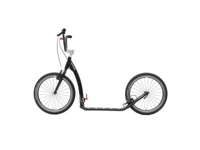 Adult folding Footbike kostka twenty G6 in black colour with brakes and pneumatic tyres